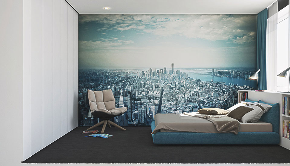 Creative bedroom interior design ideas A sleek apartment the divides rooms creatively