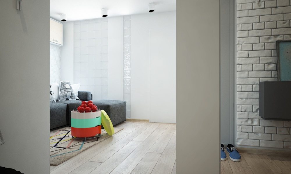 Bright And Compact 1 Bedroom Apartment For Young Family Floor Plan Included