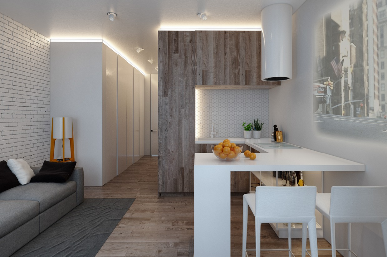 Designing for small spaces 3 beautiful micro lofts for Cute apartments