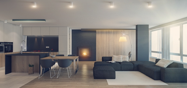 Three sleek apartments under 1500 square feet from all in for 1000 sq ft house interior design
