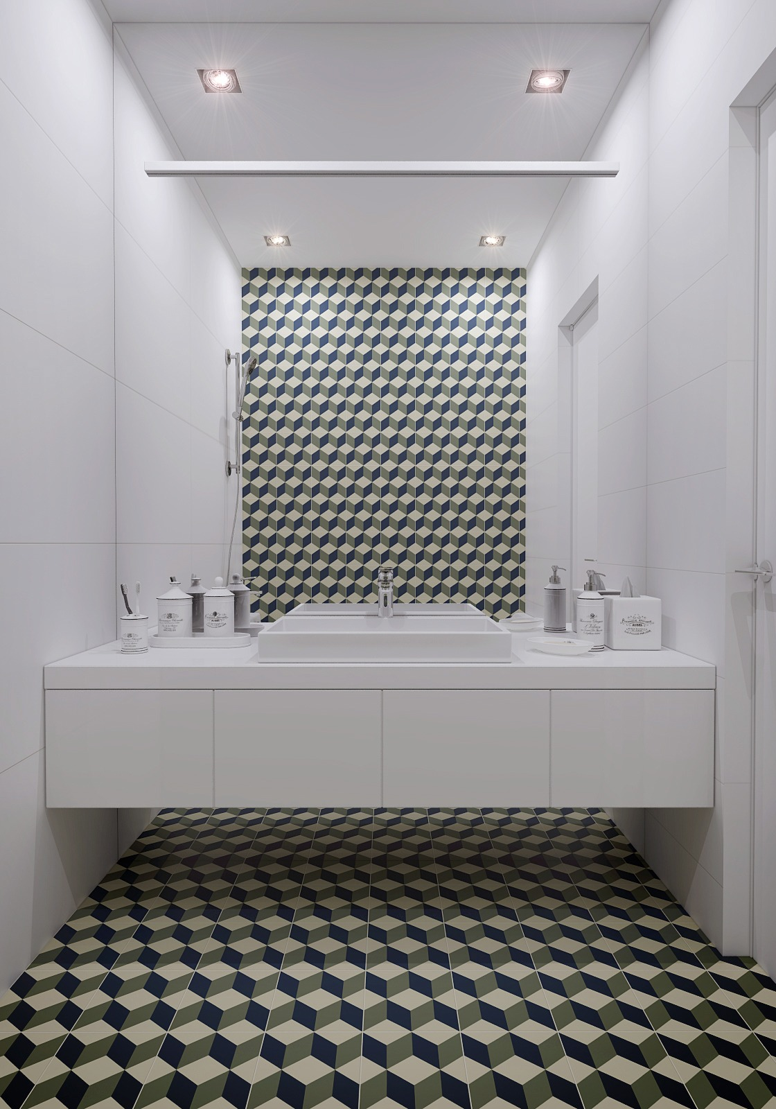 Unique  Dune  Geometric Polished Stone Mosaic On Mesh  Contemporary  Tile
