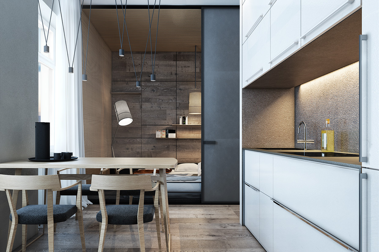 Designing for small spaces 3 beautiful micro lofts for Micro loft floor plans