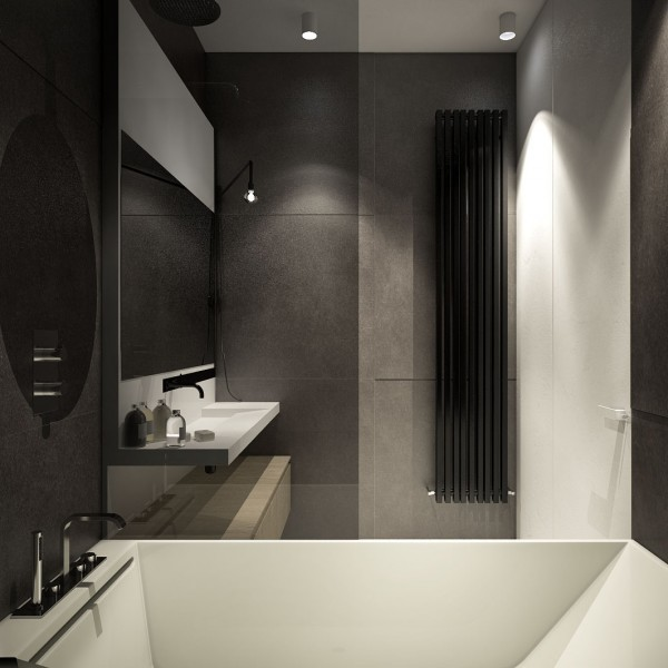 Grey Tile Bathroom Designing For Small Spaces: 3 Beautiful Micro Lofts Grey  Tile