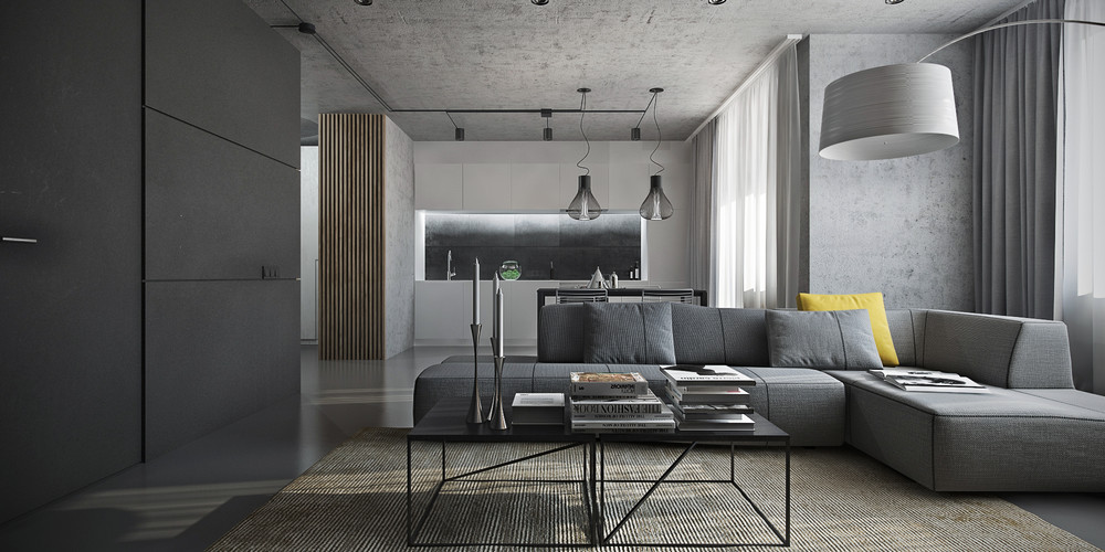 Gray Interior Design dark themed interiors: using grey effectively for interior design