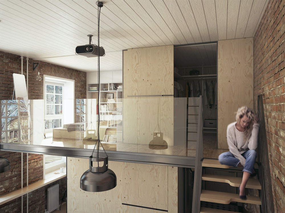 Lofted Design - A super small apartment that adapts to its owner s needs