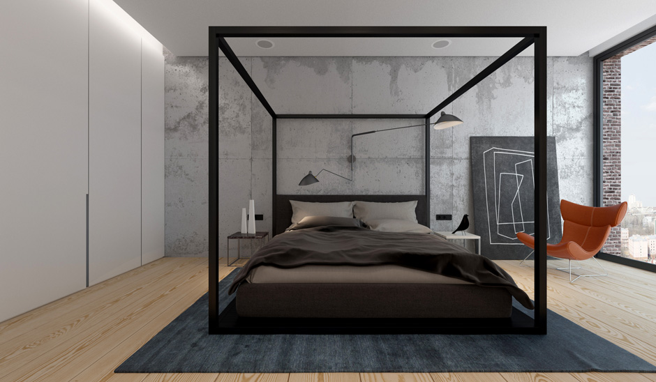 Modern Contemporary Canopy Bed  Like Architecture & Interior Design?  Follow Us..