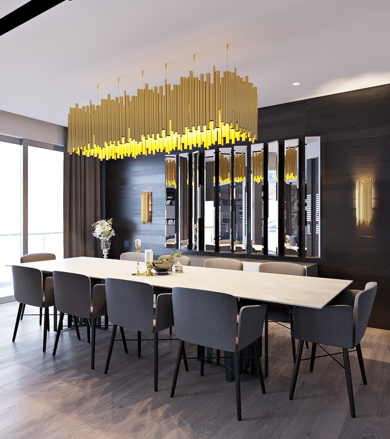 Modern formal dining room interior design ideas for Modern dining room interior design
