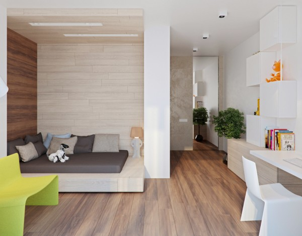 As with any modern family home, there is always a desire to keep the children's rooms age appropriate while still having them flow and match with the rest of the home's decor. Both children's rooms in this home manage to do that. While pops of color are allowed to peek out, the tone of both rooms stays largely cool and neutral.
