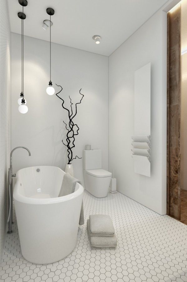 Designing for small spaces 3 beautiful micro lofts - Small tubs for small spaces ...