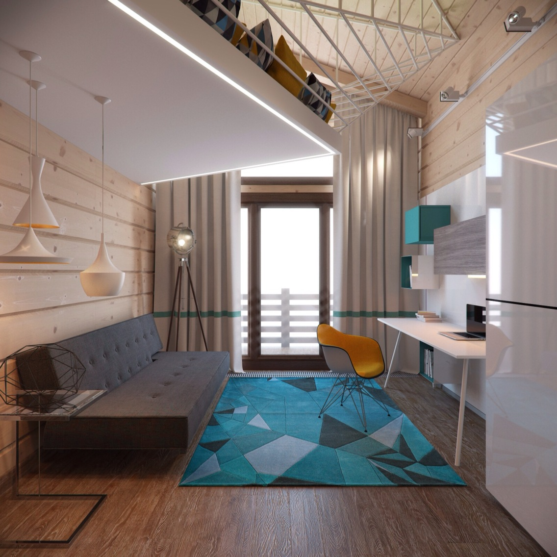 3 creative top floor rooms with wood accents A sleek apartment the divides rooms creatively