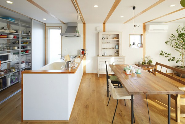 Open japanese kitchen interior design ideas for Japanese kitchen designs