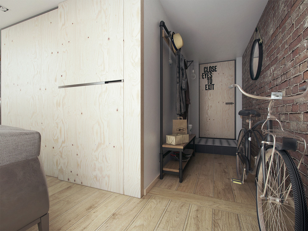 Plywood Design Ideas - A super small apartment that adapts to its owner s needs