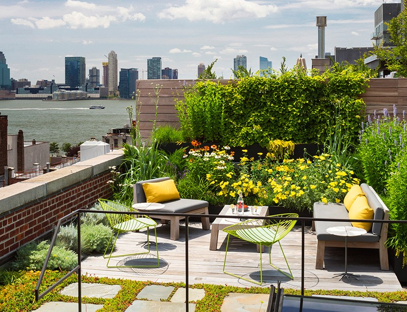 Rooftop garden design interior design ideas for Rooftop garden designs