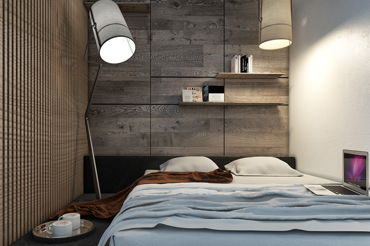 Designing for small spaces 3 beautiful micro lofts for Simple bedroom ideas