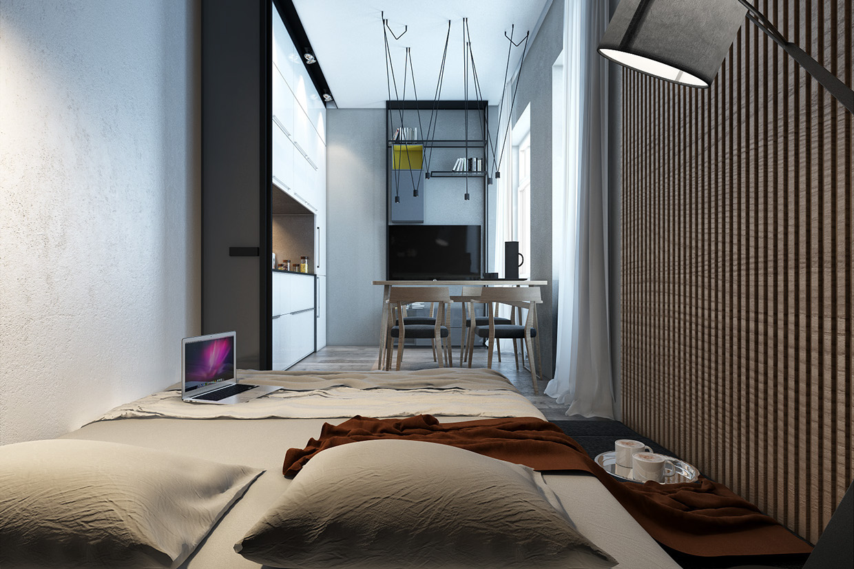 Designing for small spaces 3 beautiful micro lofts - Small loft space model ...