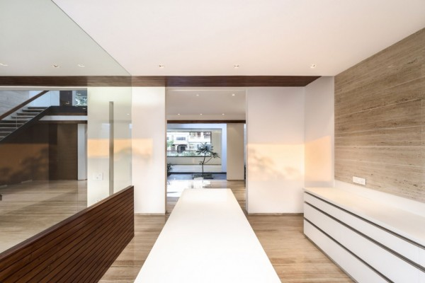 Smooth natural interior a sleek modern home with indian sensibilities and an interior