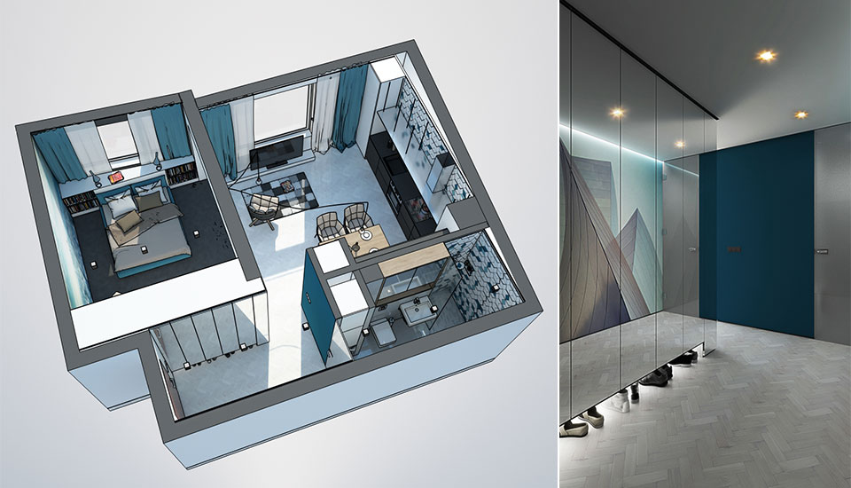 Three sleek apartments under 1500 square feet from all in for 100 square meters to square feet
