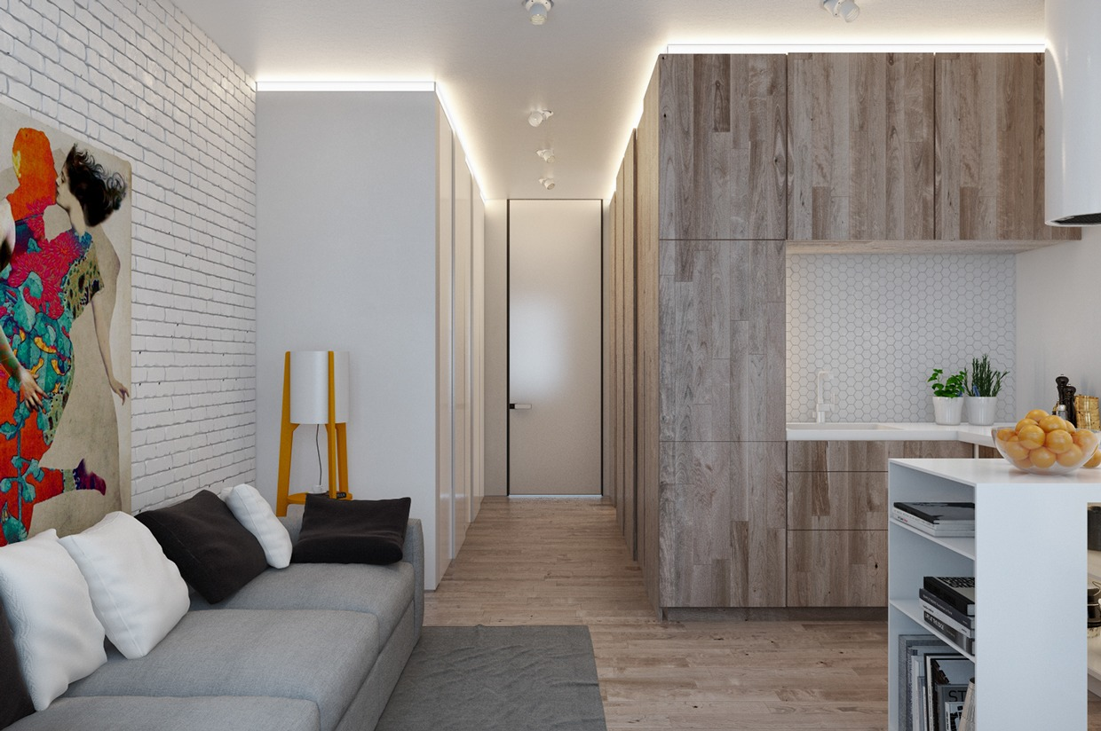 Designing for small spaces 3 beautiful micro lofts - Cloison amovible ikea ...