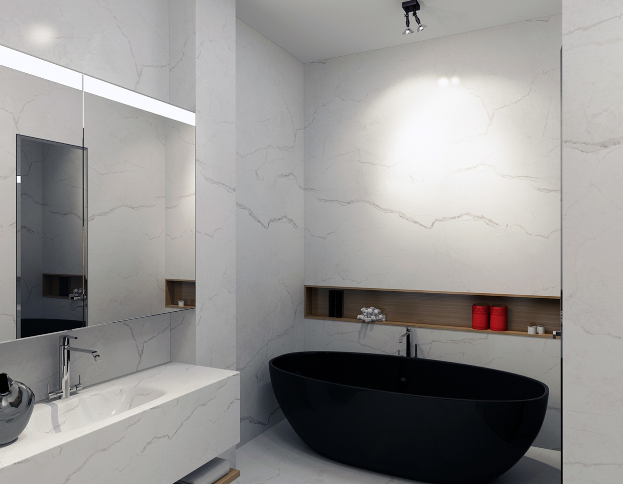White Marble Bathroom : Ideas for a bedroom home includes floor plans