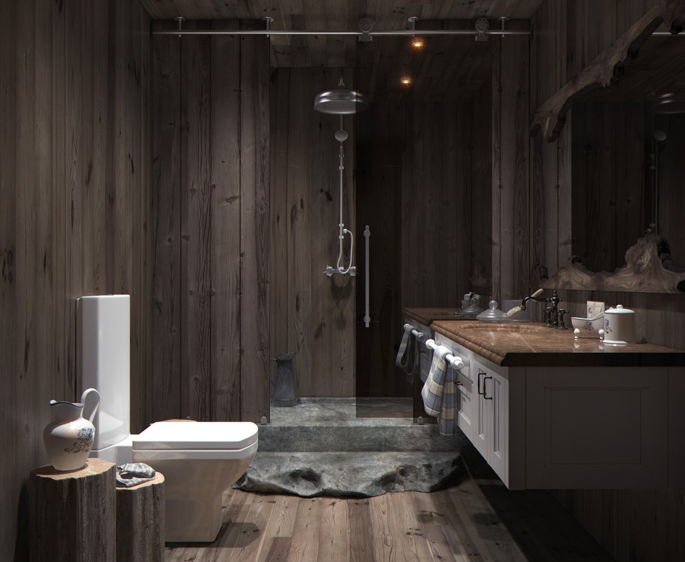 Wood panel bathroom interior design ideas Bathroom designs wood paneling