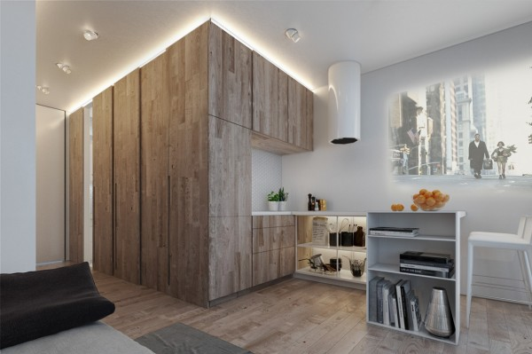 Designing for small spaces 3 beautiful micro lofts for Decoration appartement 35m2