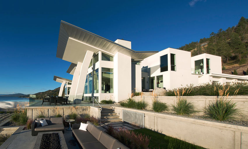 Xeriscaping Ideas - Ultramodern lake house with luxurious details