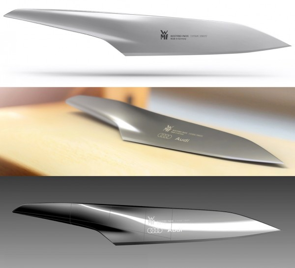 This kitchen knife is just a designer's concept at the moment, but what a beautiful concept it is.