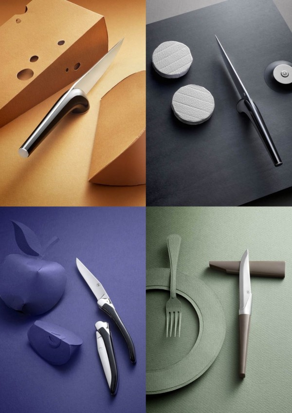 You'll never ruin your cheese with these slick knives from designer Henri Mazelier.