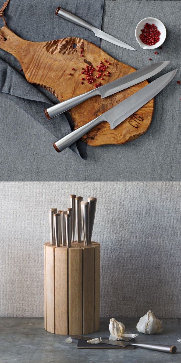 You get substance and whole lot of style with these knives from design-conscious retailer West Elm.
