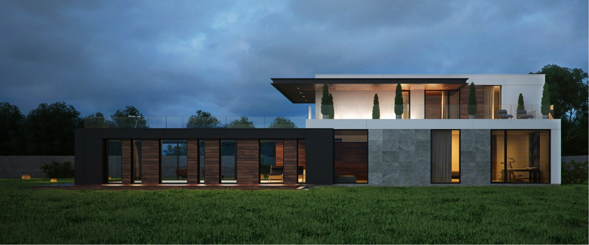 Modern home exteriors with stunning outdoor spaces for Beautiful modern homes