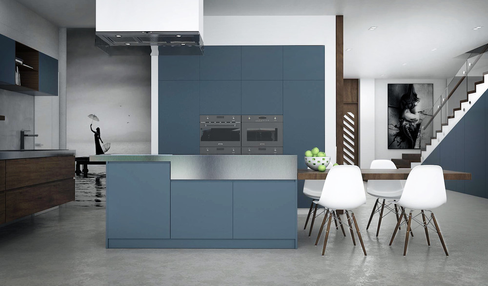 Blue Kitchen - 10 modern kitchens that any home chef would envy