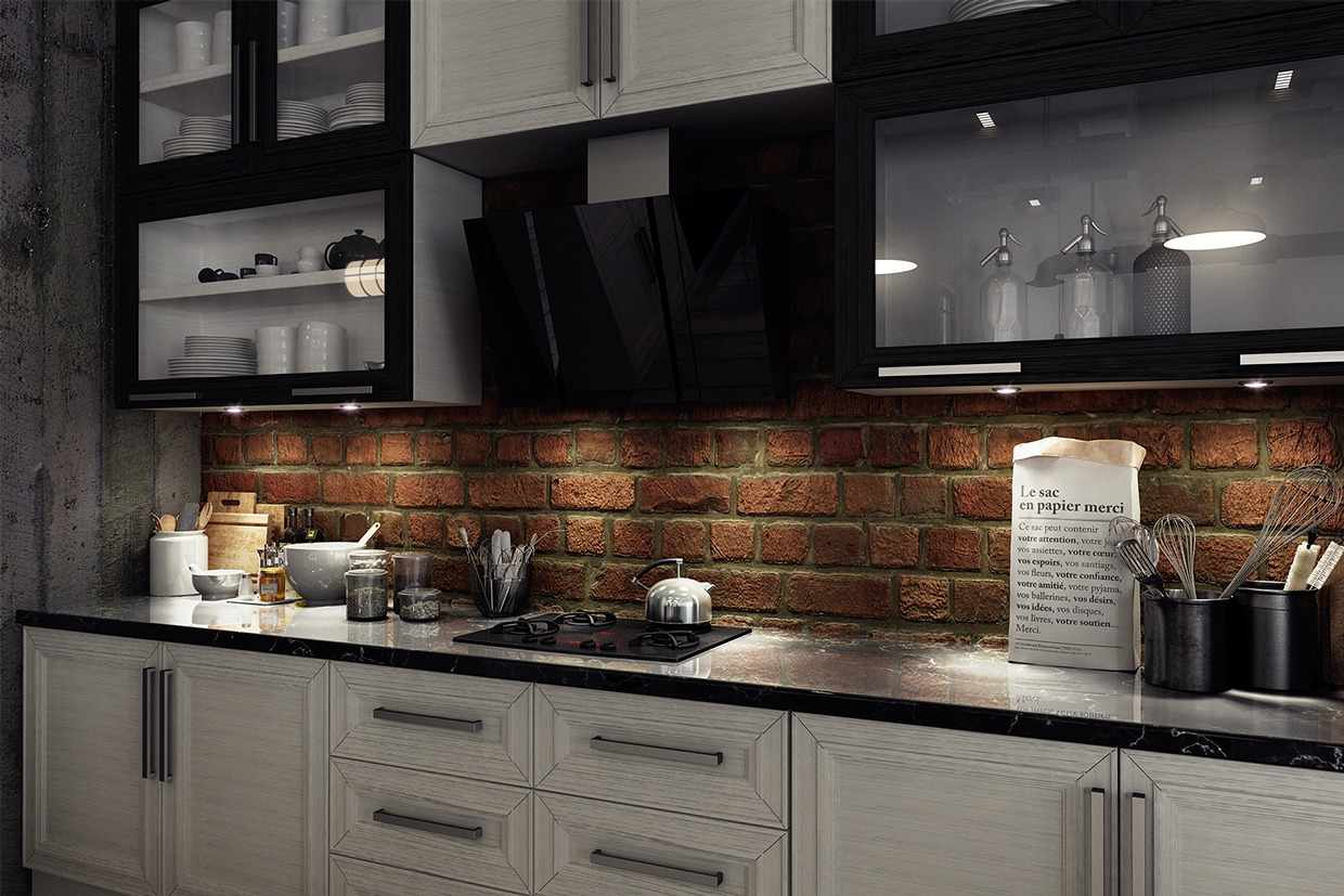 brick backsplash interior design ideas