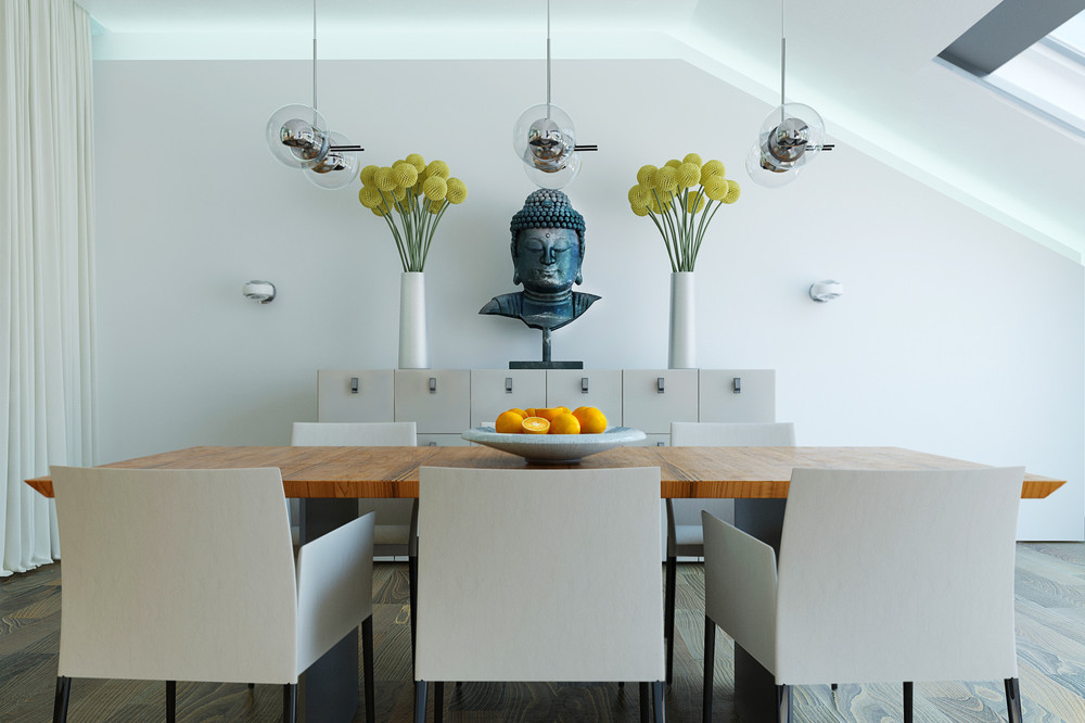 Buddhist Inspired Dining Room - 10 modern kitchens that any home chef would envy