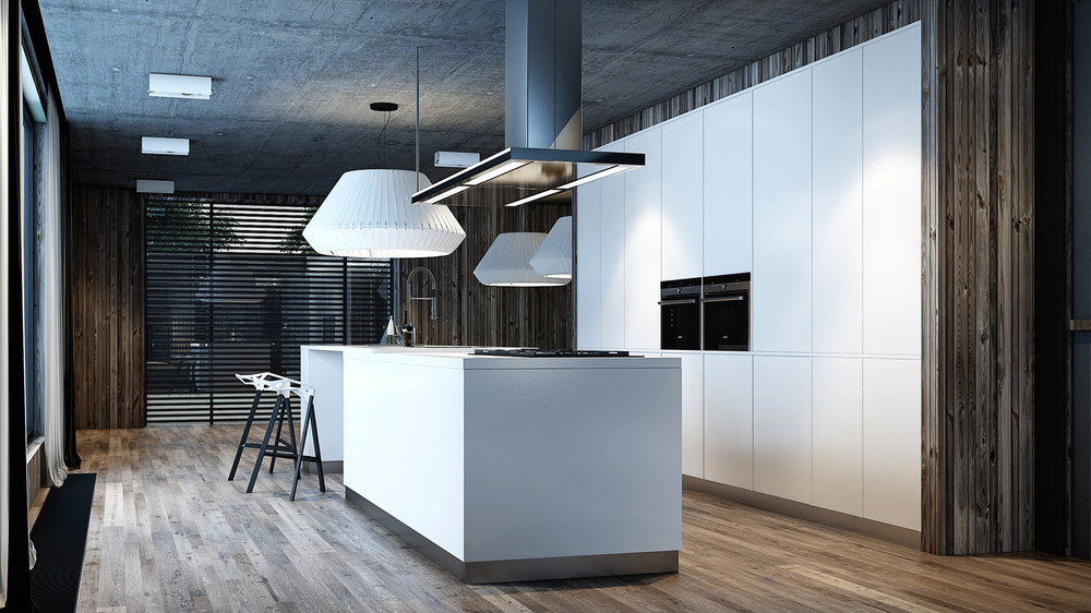 Cement Ceiling - 10 modern kitchens that any home chef would envy