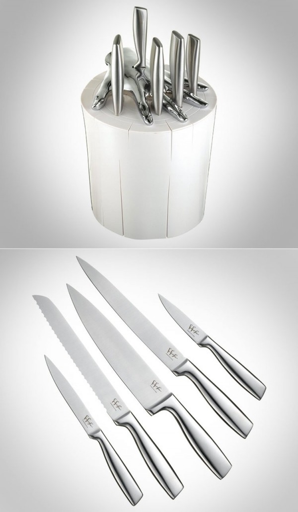There is nothing wrong with a little whimsy in the kitchen and this knife set definitely does the trick.