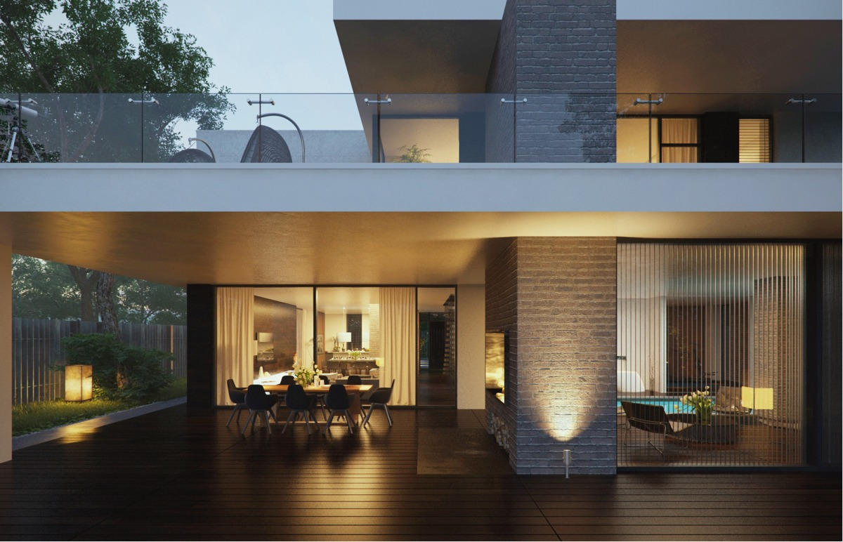 Dark Wood Patio - Modern home exteriors with stunning outdoor spaces