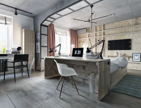 exposed-wood-accent-wall