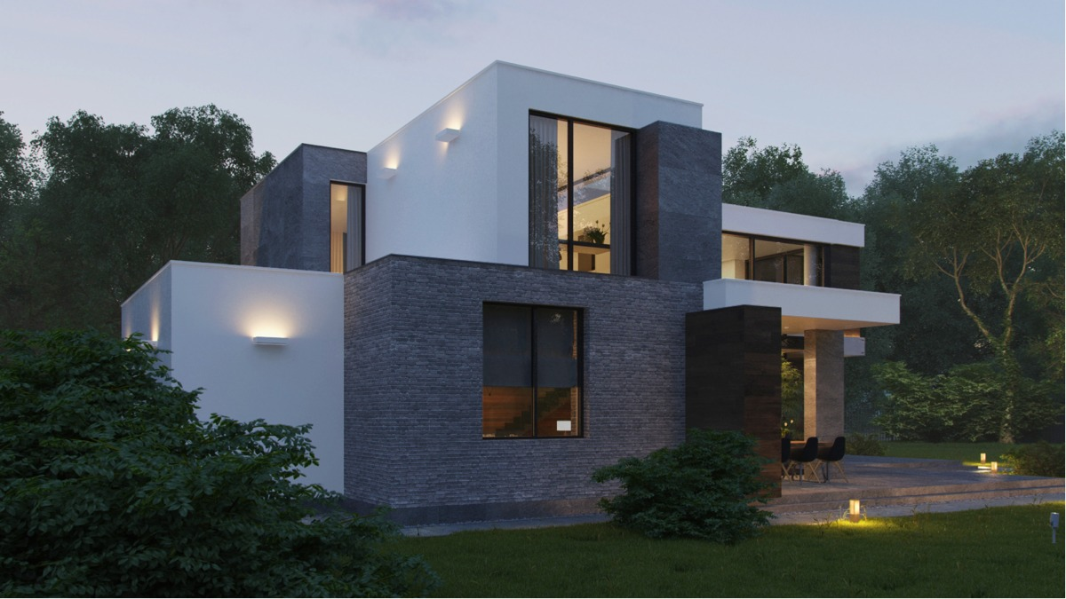 Modern home exteriors with stunning outdoor spaces for Home design exterior ideas in india