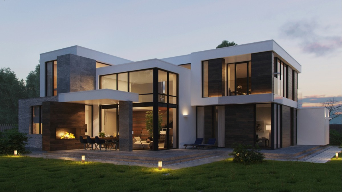 Modern home exteriors with stunning outdoor spaces for Contemporary home design exterior