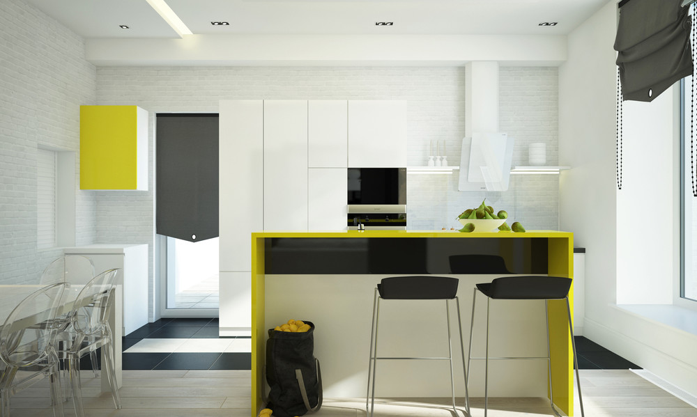 Lemon Accent Kitchen - 10 modern kitchens that any home chef would envy
