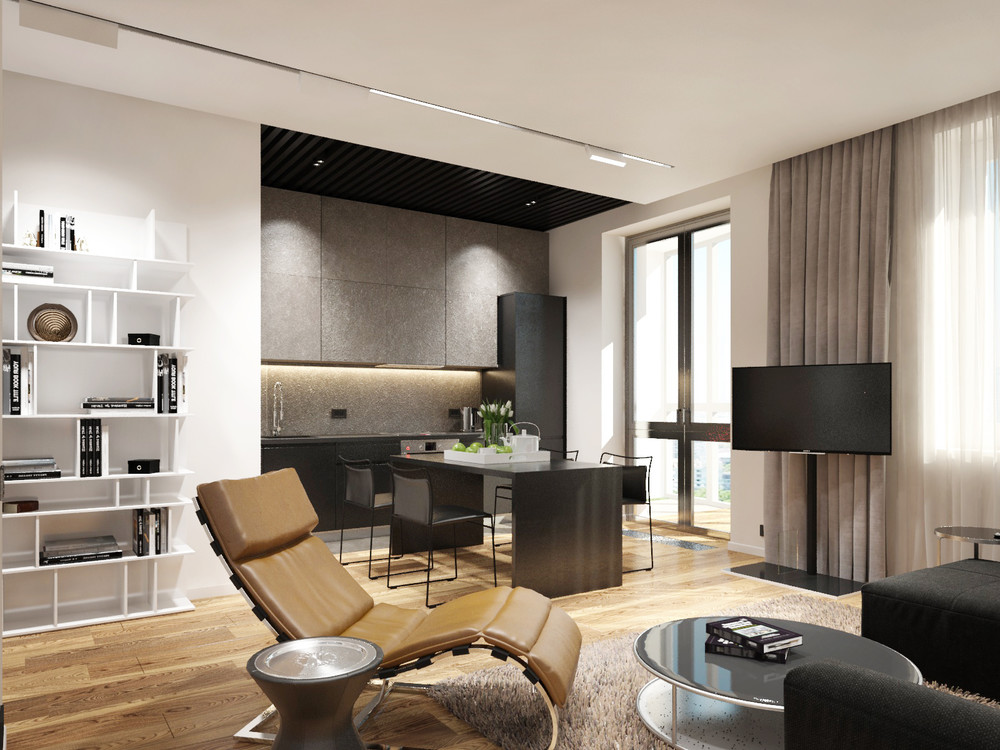 Apartment designs for a small family young couple and a - Small apartment interior design ...