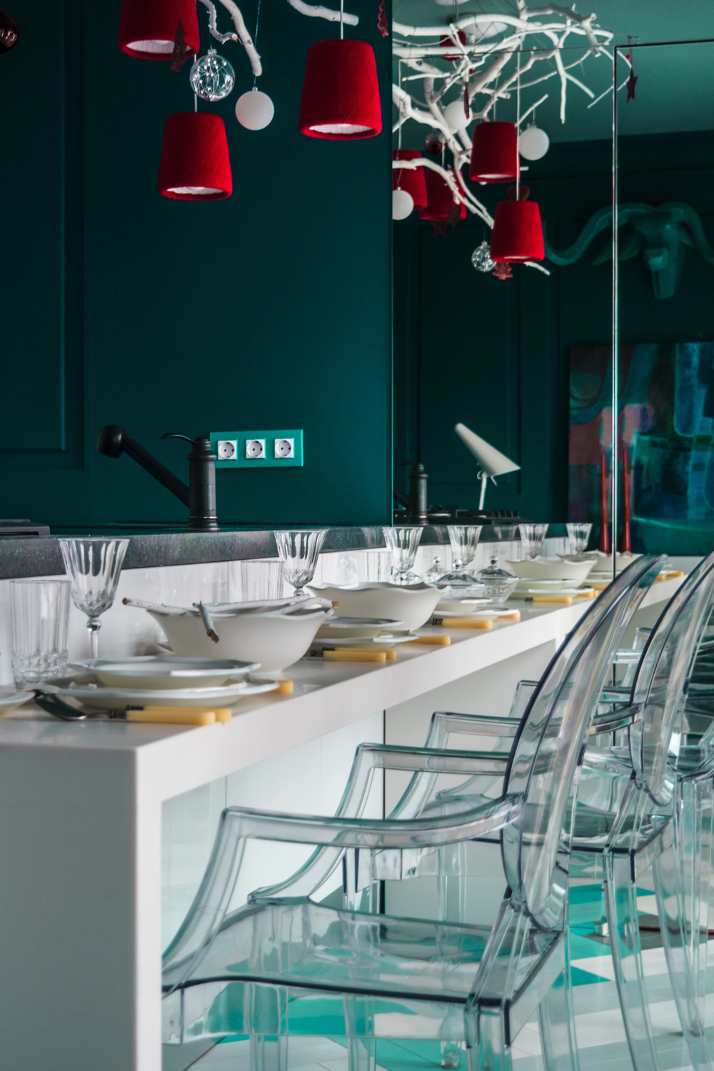 Lucite Dining Chairs - 10 modern kitchens that any home chef would envy