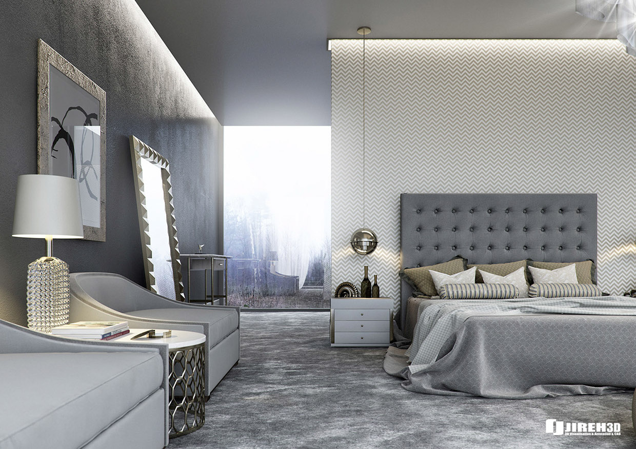 8 luxury bedrooms in detail for Home bedroom design photos