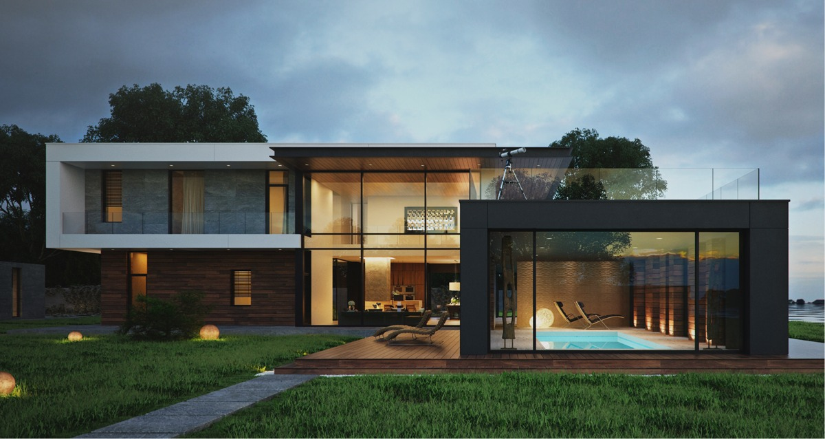 Modern home exteriors with stunning outdoor spaces Innovative home design