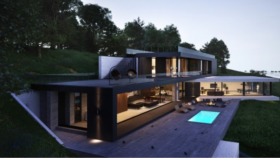 Modern Endangering Exteriors with Stunning Outdoor Spaces