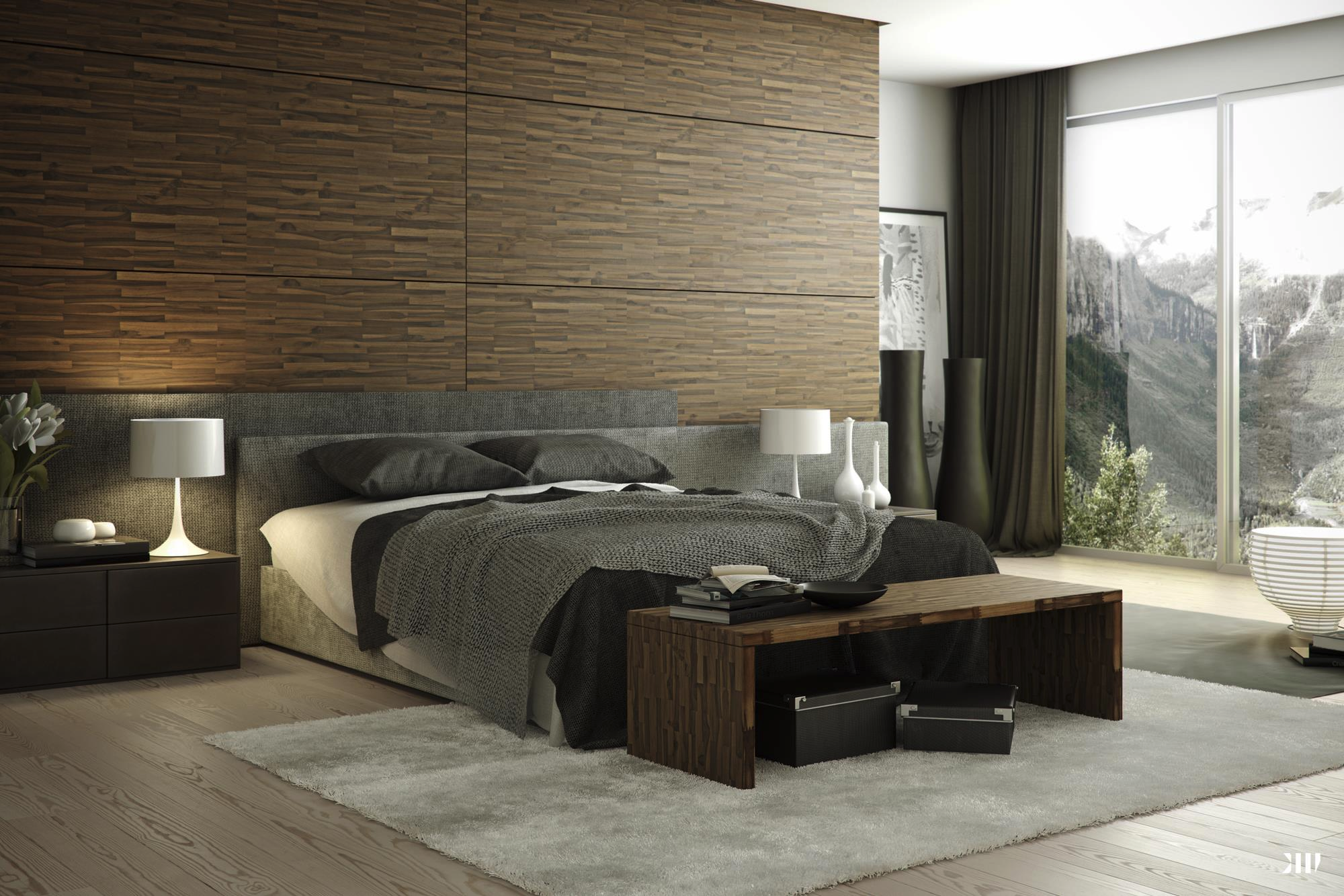 Beautiful bedrooms perfect for lounging all day for Photo chambre adulte moderne