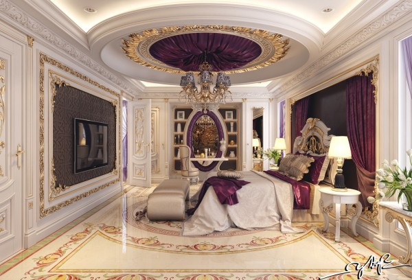 purple-satin-room-decor