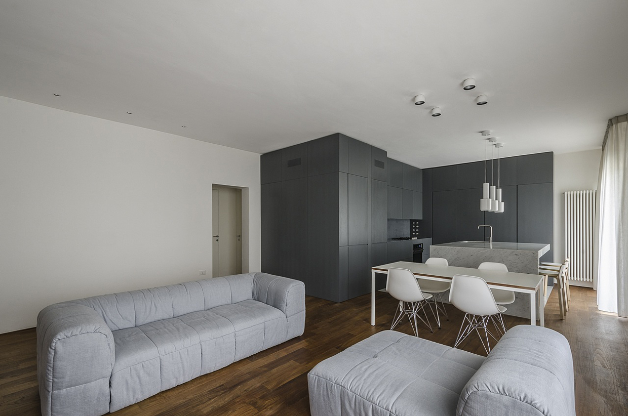 Simple Lighting Ideas - Italian apartment renovation brings open space to 1960s home