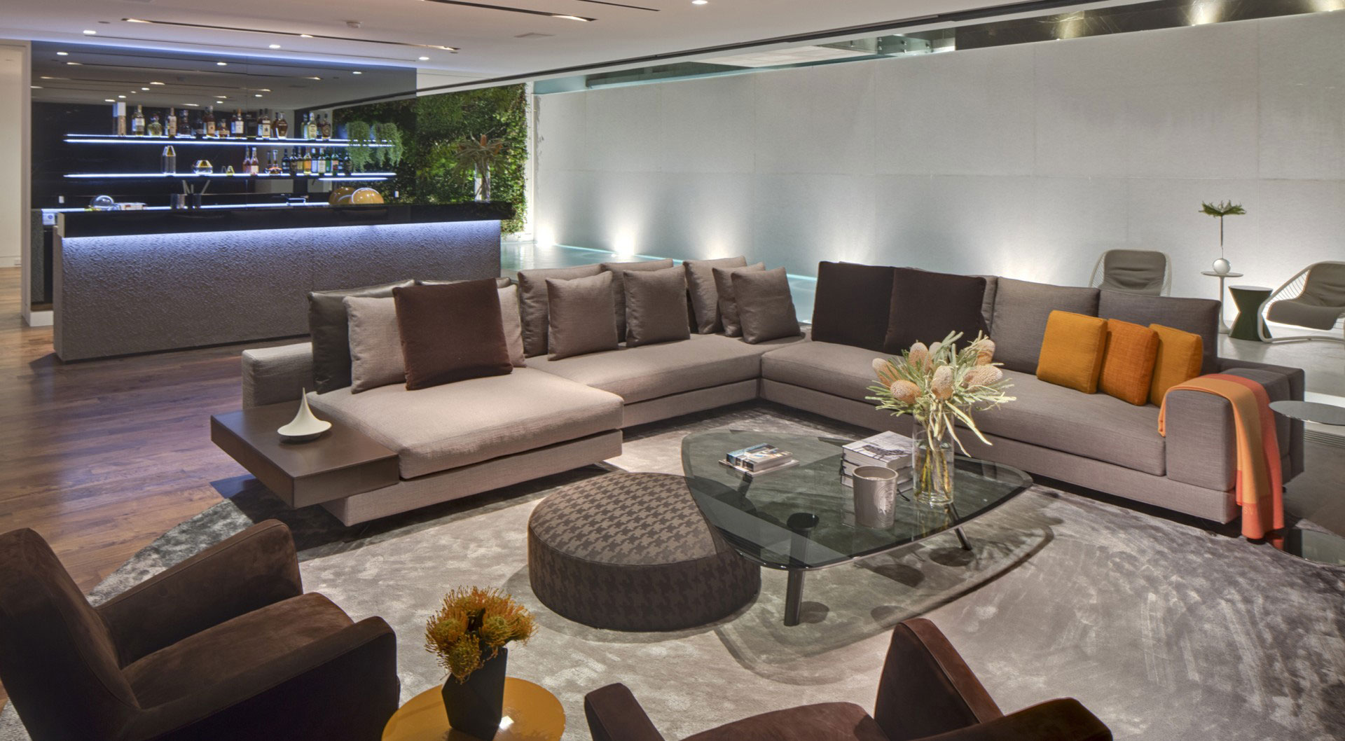 Simple Sofa Design - A dramatic glass home overlooking the l a basin
