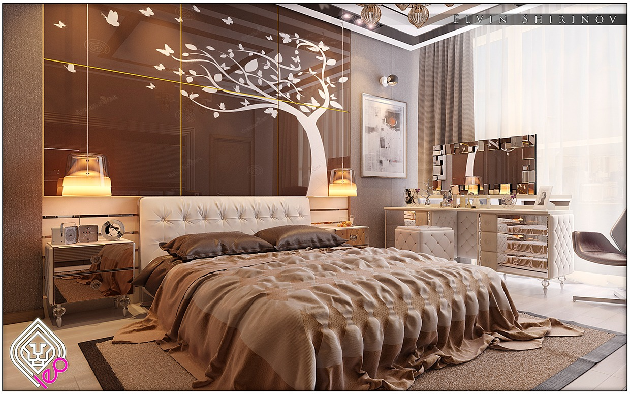 8 luxury bedrooms in detail - Brown Bedroom 2015